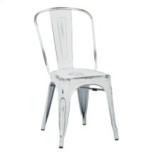 Bristow Armless Chair, Antique White, 2 Pack
