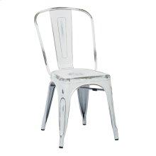 Bristow Armless Chair, Antique White, 2 Pack