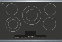 """30"""" Electric Cooktop Benchmark Series - Black with Stainless Steel Frame NETP066SUC"""