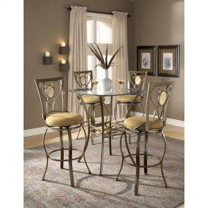 Hillsdale FurnitureBrookside 3pc Bistro Set W/ Oval Back Barstools