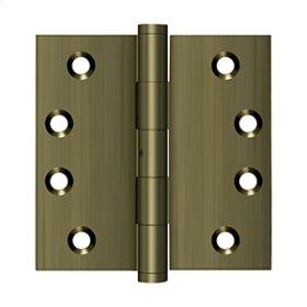 """4""""x 4"""" Square Hinges - Antique Brass"""