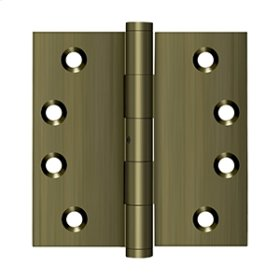 "4""x 4"" Square Hinges - Antique Brass"