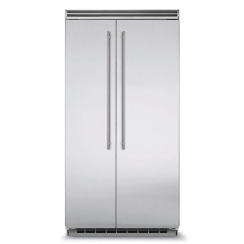 """Professional Built-In 42"""" Side by Side Refrigerator Freezer - Marvel Professional Built-In 42"""" Side-by-Side Refrigerator Freezer - Panel-Ready Overlay Doors*"""