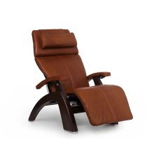 "Perfect Chair PC-LiVE "" - Cognac Premium Leather - Dark Walnut"