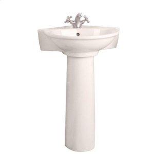 Evolution Corner Pedestal Lavatory - Single-Hole / Bisque Product Image