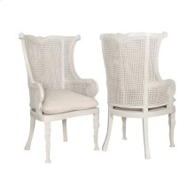 Set of 2  Caned Wing Back Chair