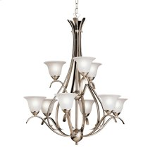 Dover 9 Light Chandelier Brushed Nickel