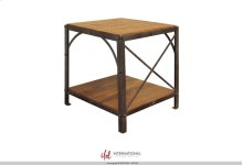 Chair Side Table w/1 Wooden Shelf