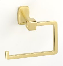 Cube Single Post Tissue Holder A6566 - Polished Brass