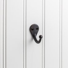 "1-3/4"" Single zinc wall mount coat hook."