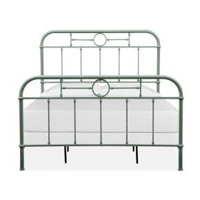Complete Queen Metal Bed - Green