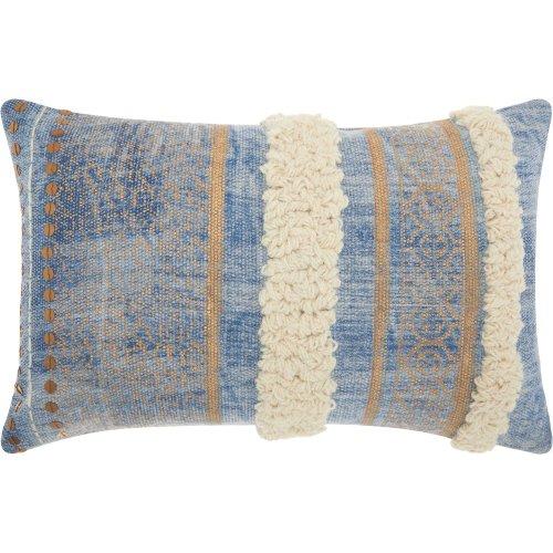 "Life Styles Am104 Blue 1'4"" X 2' Throw Pillows"