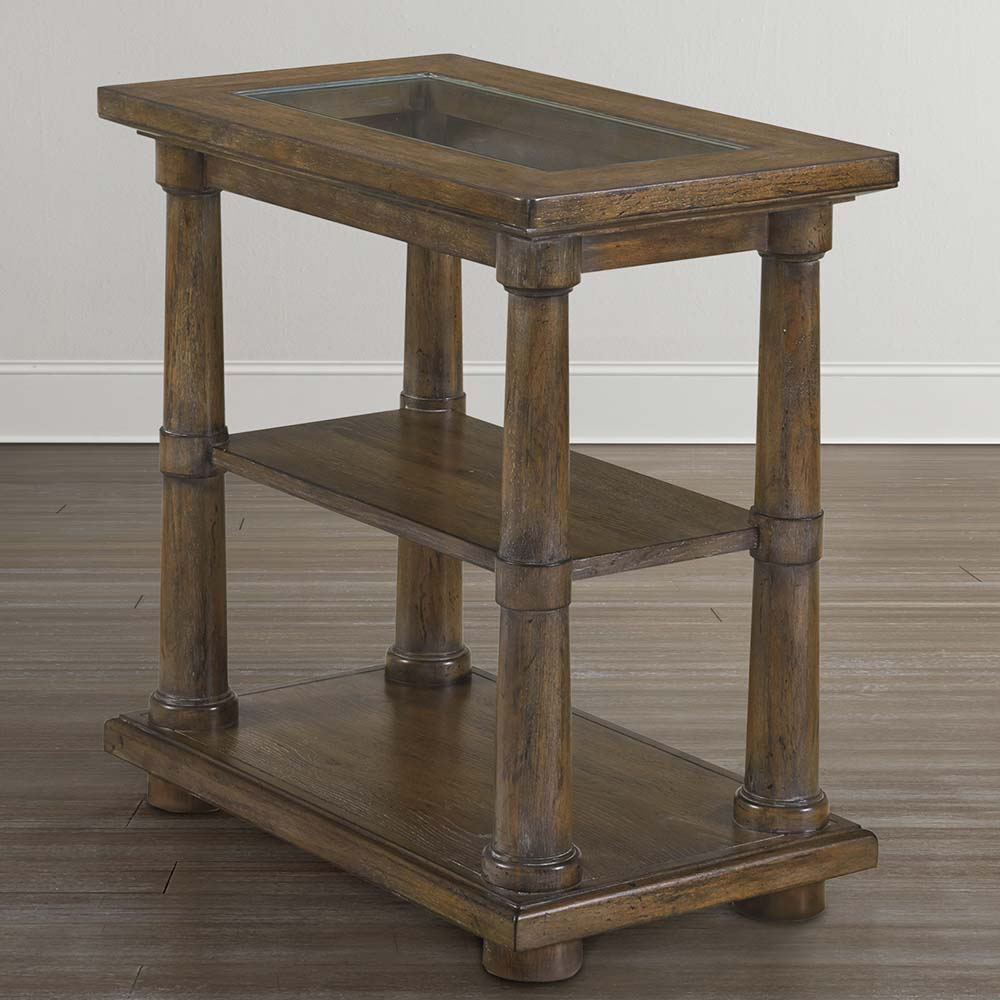 Compass Western Brown Compass End Table