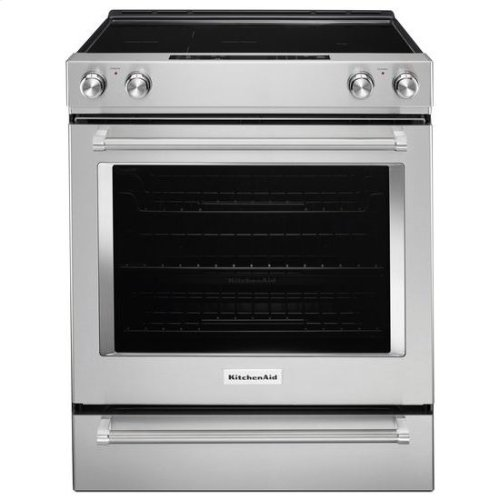 KitchenAid® 30-Inch 5-Element Electric Slide-In Convection Range - Stainless Steel