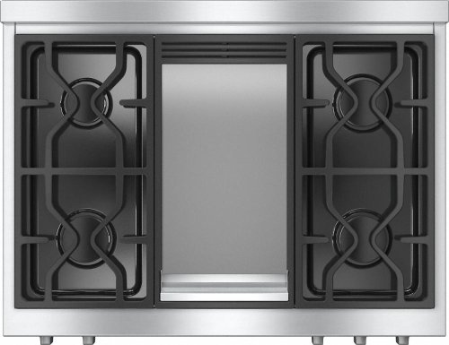 KMR 1136 LP RangeTop with 4 burners and griddle for versatility and performance