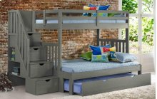 Cambridge Bunk With Staircase With Trundle