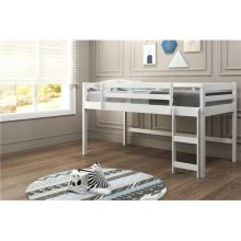 Pine Ridge White Low Loft Bed with options: Twin