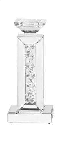 Modern pillar candleholder in clear
