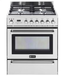 "Stainless Steel 30"" Self-Cleaning Dual Fuel Range with Warming Drawer"