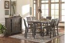 Rectangular Counter Table - Distressed Dark Gray Finish Product Image