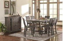 Rectangular Counter Table - Distressed Dark Gray Finish