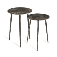 Lucia Side Tables - Nickel