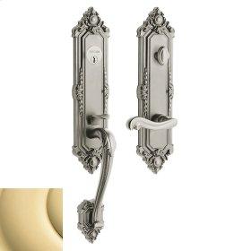 Non-Lacquered Brass Kensington Handleset