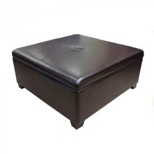 Armen Living 5026 Square Storage Ottoman