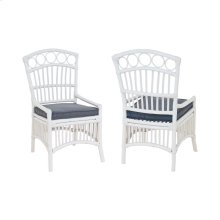 Rattan Veranda Chair In White (Set of 2)