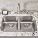 Portsmouth Double Bowl Kitchen Sink  American Standard - Stainless Steel Product Image