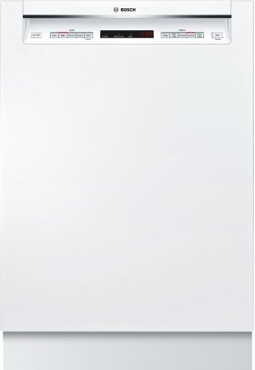 """24"""" Recessed Handle Dishwasher 500 Series- White SHE65T52UC"""