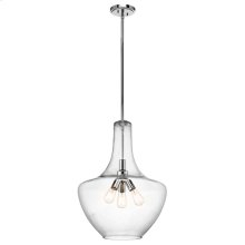 Everly Collection Everly 3 Light Pendant in Chrome