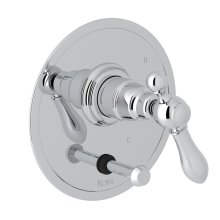 Polished Chrome Arcana Pressure Balance Trim With Diverter with Arcana Series Only Classic Metal Lever