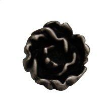 Solid brass rosette-shaped knob.