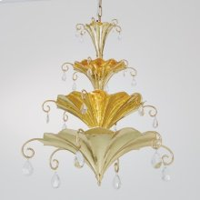 Chinoise Chandelier-Brass