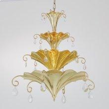 Chinoise Chandelier-Brass