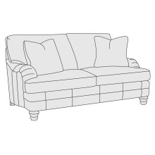 Tarleton Loveseat in Mocha (751)