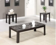 700375 Black 3PC Table Set