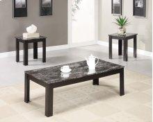 700375 Black 3PC Table Set