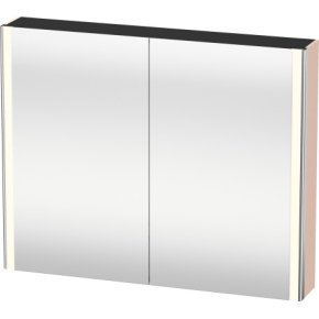 Mirror Cabinet, Apricot Pearl Satin Matt Lacquer