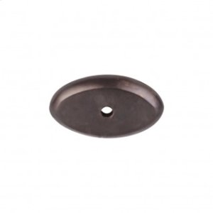 Aspen Oval Backplate 1 1/2 Inch - Medium Bronze