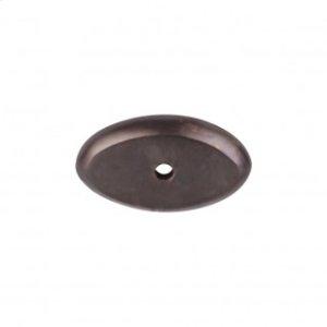 Aspen Oval Backplate 1 1/2 Inch - Medium Bronze