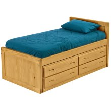 Captain's Bed Drawer Set, Twin, extra-long