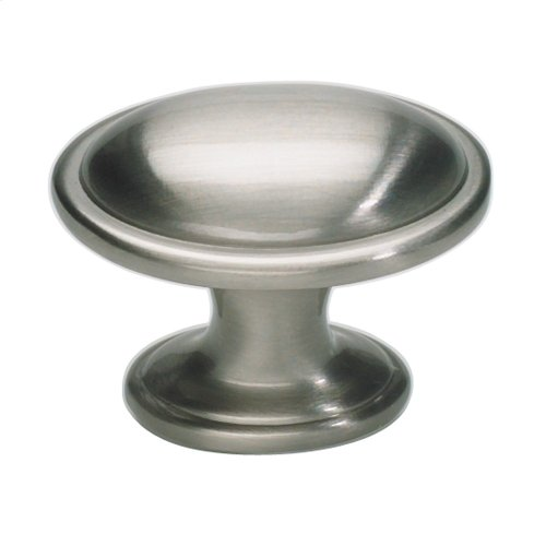 Austen Oval Knob 1 5/16 Inch - Brushed Nickel