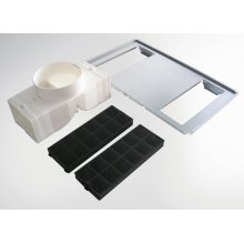 Recirculation kit for model XOV30 - includes parts for initial installation and two XORSQR activated carbon filter elements