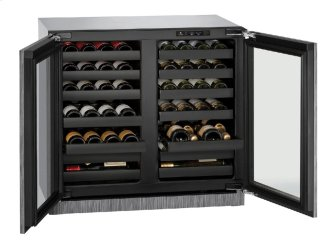 "Modular 3000 Series 36"" Wine Captain(r) Model With Integrated Frame Finish and Double Doors Door Swing (115 Volts / 60 Hz)"