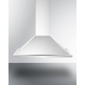 "Summit36"" European 500 Cfm Range Hood In Stainless Steel"
