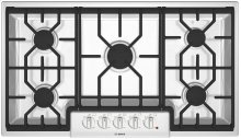 """36"""" Gas Cooktop 500 Series White"""
