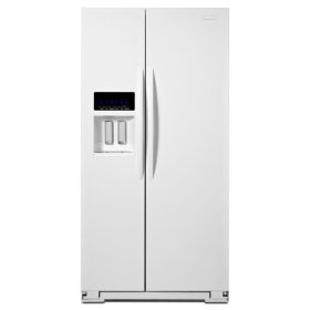 KitchenAid® 25.6 Cu. Ft. Standard-Depth Side-by-Side Refrigerator, Architect® Series II - White