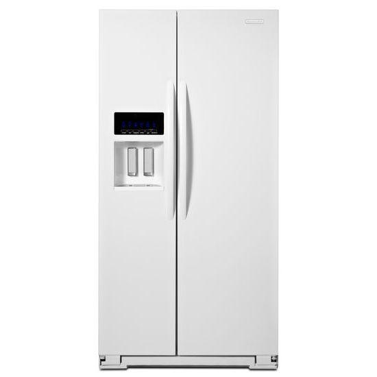 KitchenAid® 25.6 Cu. Ft. Standard Depth Side By Side Refrigerator Hidden
